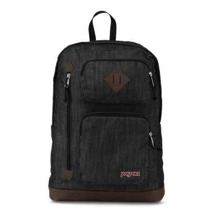 JanSport Houston Backpack in Blue Denim - Closeouts