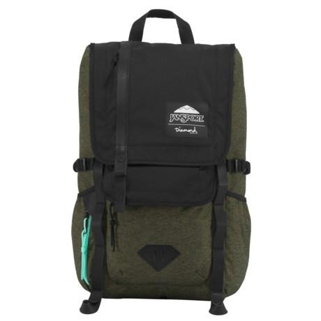 JanSport JS X DSC Hatchet17L  Backpack in Green Machine