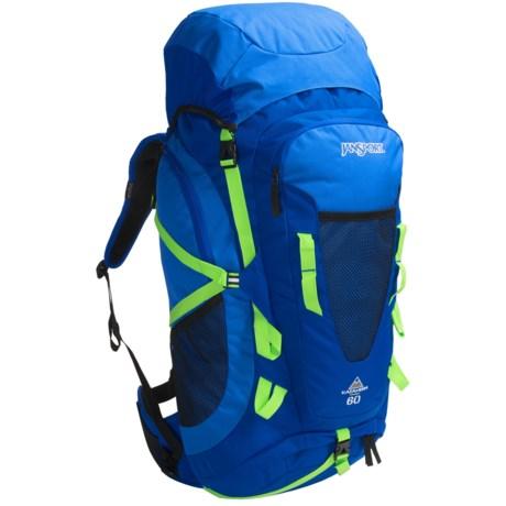 JanSport Katahdin Backpack - 60L in Bluewash/Blustreak/Zapgrn