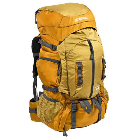 JanSport Klamath 55 Backpack - Internal Frame in Buckthorn Brown