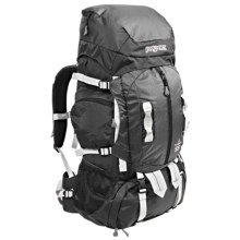 JanSport Klamath 55 Backpack - Internal Frame in Grey Tar/Forge Grey - Closeouts
