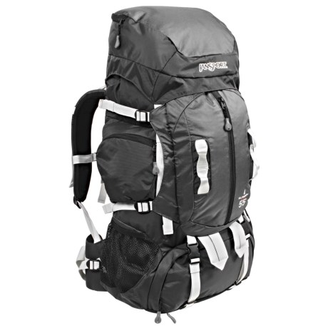 JanSport Klamath 55 Backpack - Internal Frame in Grey Tar/Forge Grey