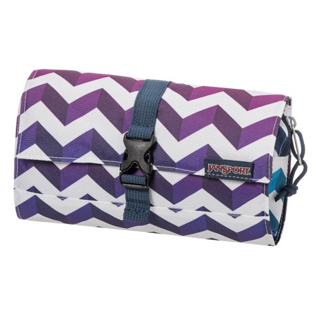 JanSport Matrix Accessory Pouch in Shadow Chevron