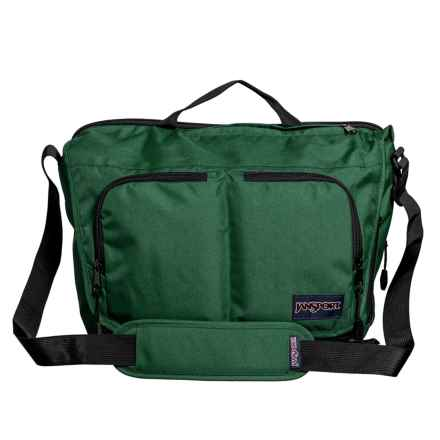 JanSport Network Messenger Bag in Collegiate Forest - Closeouts