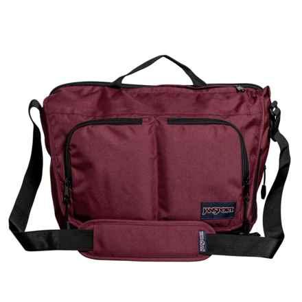 JanSport Network Messenger Bag in Merlot - Closeouts