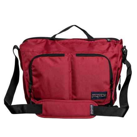 JanSport Network Messenger Bag in Viking Red - Closeouts