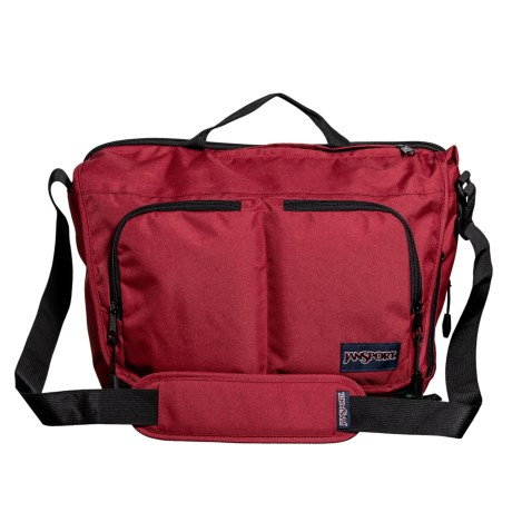 JanSport Network Messenger Bag in Viking Red