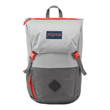 10bf4ed55976 JanSport Pike 24L Backpack in Bayonet Grey Inca Orange - Closeouts