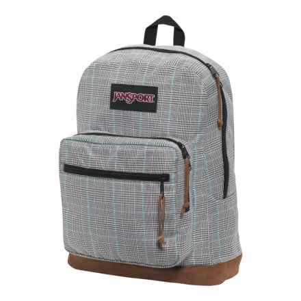 Jansport Right Pack Digital Edition Backpack in Black/White Suited Plaid - Closeouts