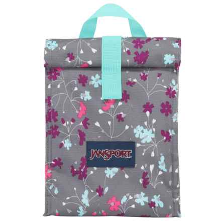 JanSport Roll-Top Lunch Bag in Spring Meadow - Closeouts