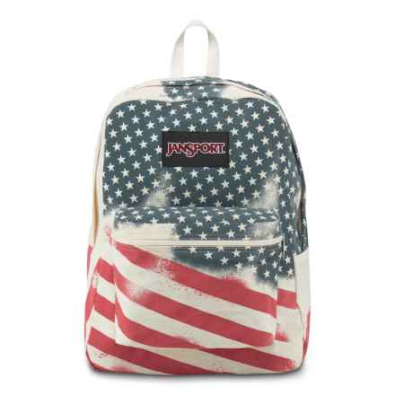 JanSport Super FX Backpack in White Faded Stars - Closeouts
