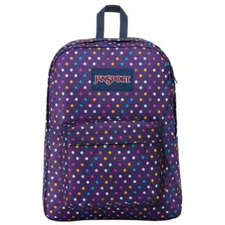 JanSport Superbreak 25L Backpack in Spot-O-Rama Purple - Closeouts