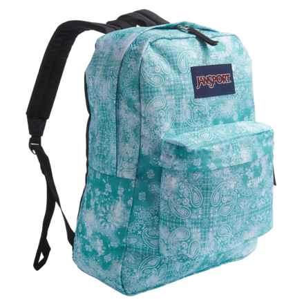 JanSport Superbreak Backpack in Bayside Blue Bandana - Closeouts