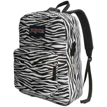 JanSport Superbreak Backpack in Black/White Zebra Stripe - Closeouts