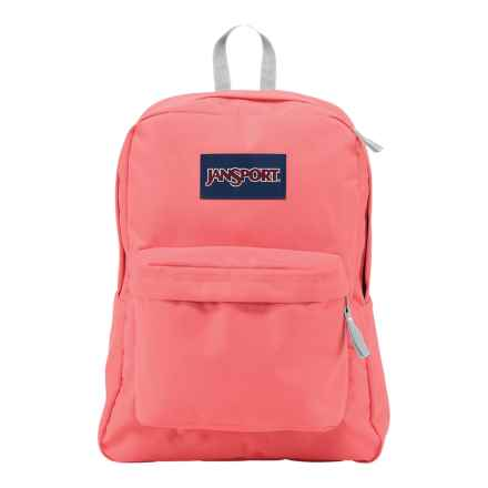 JanSport Superbreak Backpack in Coral Sparkle - Closeouts