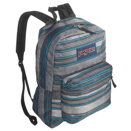 JanSport Superbreak Backpack in Multi Bold Stripe - Closeouts