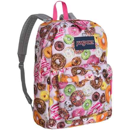 JanSport Superbreak Backpack in Multi Donuts - Closeouts
