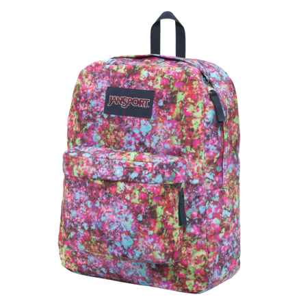 JanSport Superbreak Backpack in Multi Flower Explosion - Closeouts
