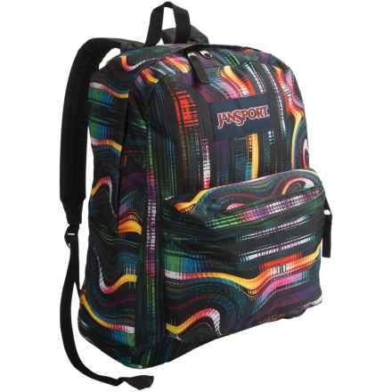 JanSport Superbreak Backpack in Multi Frequency - Closeouts