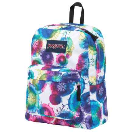 JanSport Superbreak Backpack in Multi Tie Dye Swirls - Closeouts