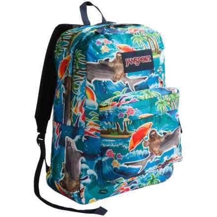 JanSport Superbreak Backpack in Multi Wet Sloth - Closeouts