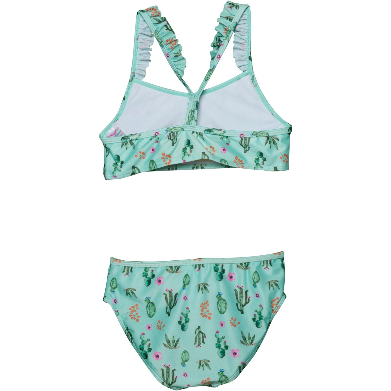 352cc0e35ed60 Jantzen Cactus Print Ruffle Bikini Set (For Big Girls) - Save 37%