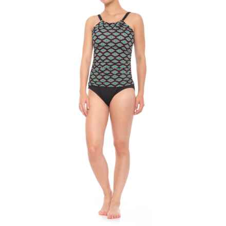 Jantzen High Neck One-Piece Swimsuit - Padded Cups (For Women) in Black - Closeouts