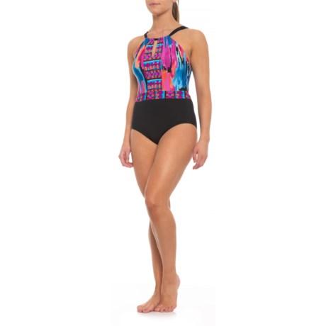 fd161602c0d Jantzen High-Neck One-Piece Swimsuit - Padded Cups (For Women) in
