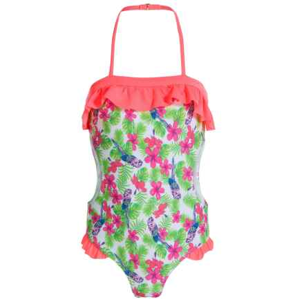 Jantzen Parrot Paradise Swimsuit - UPF 50+ (For Big Girls) in Parrot Paradise - Closeouts