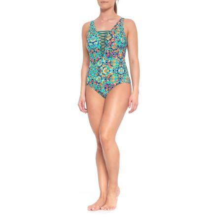 9eecec3baed7a Jantzen Tank One-Piece Swimsuit (For Women) in Empress Teal - Closeouts