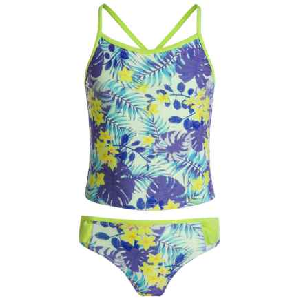 Jantzen Tropical Dreams Tankini Set - UPF 50+ (For Big Girls) in Tropical Dreams - Closeouts