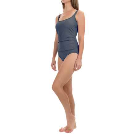 Jantzen Wrap Front One-Piece Swimsuit (For Women) in Grey - Closeouts