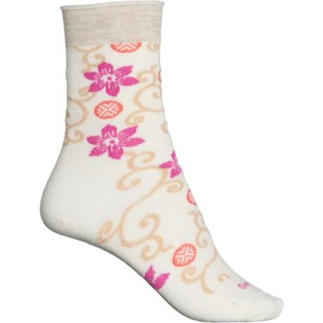 Japonica Essential Comfort Socks - Merino Wool, Crew (For Women) - NATURAL (S/M ) -  Sockwell