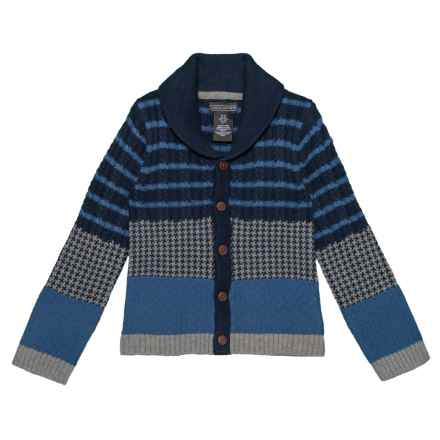 Jarvis Archer Cotton Cardigan Sweater (For Toddler Boys) in Dino Navy - Closeouts