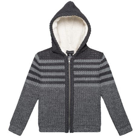 e05445a60 Jarvis Archer Hooded Cardigan Jacket - Sherpa Lined (For Toddler Boys) in  Charcoal Heather