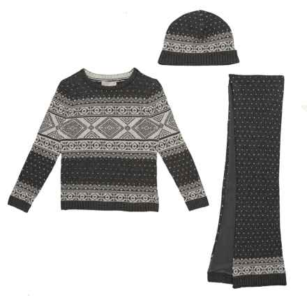 Jarvis Archer Sweater, Scarf and Hat Set (For Toddler Boys) in Charcoal Heather - Closeouts