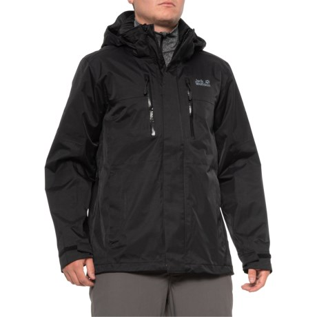 Jasper Flex Jacket - Waterproof (For Men) - BLACK (2XL )