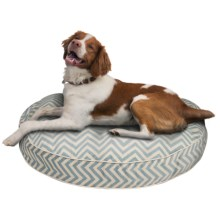 "Jax & Bones Round Vibe Dog Bed - 32"" in Blue - Closeouts"