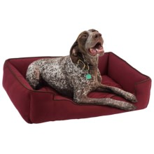 "Jax & Bones Sleeper Dog Bed - Large, 39x32"" in Berry - Closeouts"