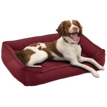 "Jax & Bones Sleeper Dog Bed - Medium, 32x27"" in Berry - Closeouts"