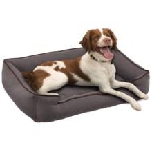 "Jax & Bones Sleeper Dog Bed - Medium, 32x27"" in Pewter - Closeouts"