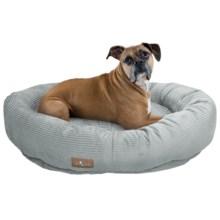 "Jax & Bones Slumber Jax Corduroy Donut Dog Bed - Large, 43x32"" in Dove Grey - Closeouts"
