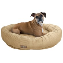 "Jax & Bones Slumber Jax Corduroy Donut Dog Bed - Large, 43x32"" in Honey - Closeouts"