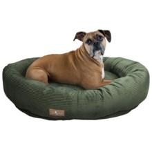 "Jax & Bones Slumber Jax Corduroy Donut Dog Bed - Large, 43x32"" in Olive - Closeouts"