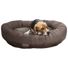 "Jax & Bones Slumber Jax Corduroy Donut Dog Bed - Medium, 35x28"" in Chocolate - Closeouts"