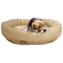 "Jax & Bones Slumber Jax Corduroy Donut Dog Bed - Medium, 35x28"" in Honey - Closeouts"