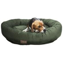 "Jax & Bones Slumber Jax Corduroy Donut Dog Bed - Medium, 35x28"" in Olive - Closeouts"