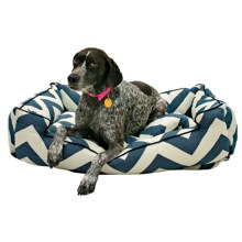 "Jax & Bones Spellbound Sleeper Dog Bed - Large, 39x32x10"" in Blue - Closeouts"