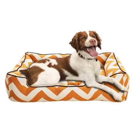 """Jax & Bones Spellbound Sleeper Dog Bed - Medium, 37x27"""" in Orange - Closeouts"""