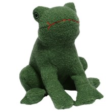 Jax & Bones Woolie Dog Squeak Toy - Large in Frog - Closeouts